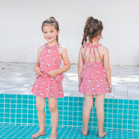 �和�泳衣女�n��甜美�W生�r尚小清新分�w裙式����中大童女孩泡�厝�游泳