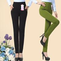 中年女裤中老年人女装小脚裤子妈妈装春秋打底裤妇女弹力外穿长裤