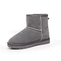 内增高雪地靴女短筒韩版百搭学生短靴保暖棉面包鞋子冬加绒女棉靴