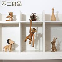 创意家居装饰品丹麦猴子木偶摆件客厅电视柜儿童房间小摆设工艺品