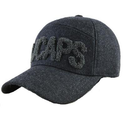 老人帽子男士 冬天棒球帽保暖棉帽加厚护耳毛呢帽男