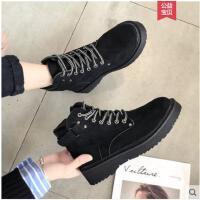 短靴女秋冬季新款韩版平底马丁靴女英伦风百搭学生加绒靴子女
