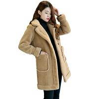 冬季新款外套女棉衣宽松中长款大衣加厚棉袄潮 M 适合80-100