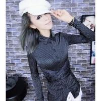 欧洲站女冬2018新款打底衫洋气时尚气质修身显瘦洋气小衫上衣衬衫
