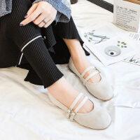 网红平底单鞋女方头浅口玛丽珍鞋潮女鞋春季芭蕾舞鞋仙女