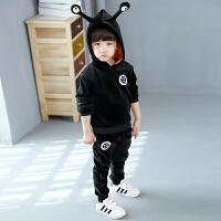3到4-5男童装6天7小男孩子8运动套装9岁儿童宝宝季衣服装韩版 紫 天线宝宝