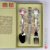 送外国人的中国特色礼物京剧脸谱餐具中国风特色礼品送老外出国小礼物北京特产纪念工艺品