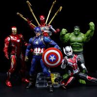 漫威周边复仇者手办正版钢铁侠蜘蛛侠美国队长绿巨人玩具联盟摆件