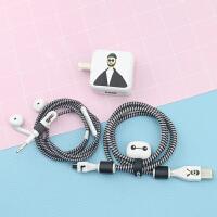 VIVO X6/X7/X21安卓数据线保护套充电器贴保护线绳耳机绕线x20