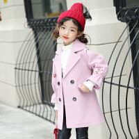 女童呢子大衣2017新款韩版10公主11岁女孩秋装儿童洋气毛呢外套