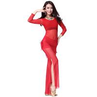 肚皮舞服装演出服长袖练功服时尚新款 春夏舞蹈腰裙裤比赛服套装