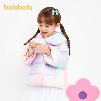 【3件4折:235.2】巴拉巴拉女大童羽�q服2020新款冬季童�b�和�外套�p薄短款外套小童