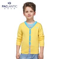 派克兰帝品牌童装 男童中小童 秋装撞色V领针织开衫  儿童 针织衫 外套
