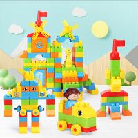 儿童积木大颗粒拼装宝宝塑料大号1-2岁3拼接拼插益智力玩具