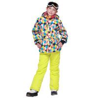 新款滑雪服套装户外女童冲锋衣儿童 保暖