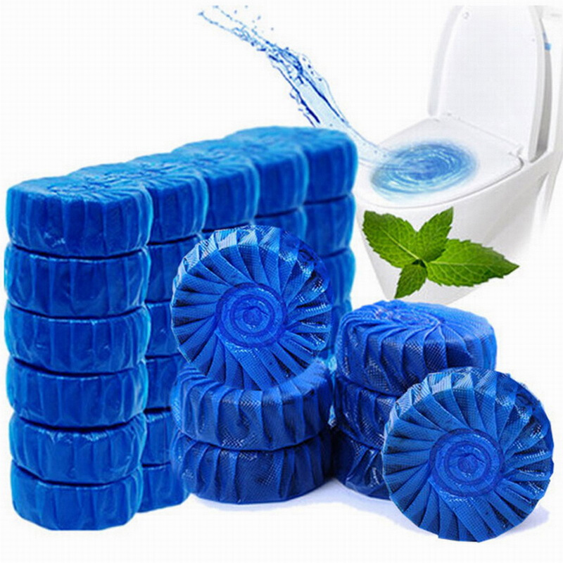 50只装洁厕灵蓝泡泡洁厕宝厕所除臭马桶清洁剂除垢洁厕剂去污洁厕剂块