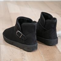 雪地靴女2018新款加绒加厚面包鞋韩版百搭学生短筒平底棉鞋女冬季