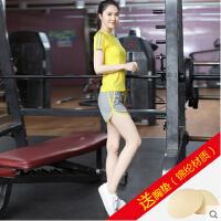 女孩户外健身服 女生健身房紧身瑜珈服 瑜伽服速干套装 运动短裤跑步服装