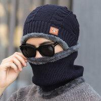 韩版针织帽套头帽 新款男青年帽子 加绒保暖男士帽子 时尚毛线帽子