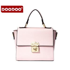 【支持礼品卡】DOODOO 2017新款夏季时尚女包包包日韩潮流手提包百搭小方包单肩斜跨女士包包 D6009