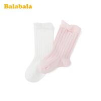 巴拉巴拉儿童棉袜春季新款宝宝短袜男女童袜子小童透气百搭两双装