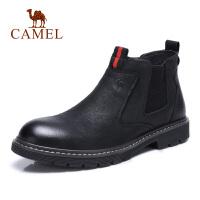 camel骆驼男鞋 秋冬新品青年时尚休闲潮靴英伦复古牛皮鞋子
