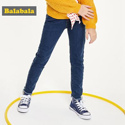 巴拉巴拉童装女童牛仔裤儿童裤子秋装2019新款中大童长裤时尚弹力