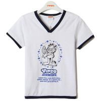 【专区59元3件】加菲猫男童印花T恤短袖套头儿童基础款GTW17205