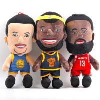 可爱创意NBA篮球明星詹姆斯哈登库里毛绒玩具公仔摆件抱枕布娃娃