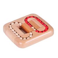 木制益智玩具 滚珠游戏 迷宫玩具 平面滚珠