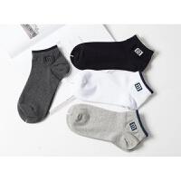 夏季薄棉男士短船袜子 全棉低帮运动袜无骨纯棉透气棉袜5双装 均码