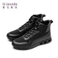 莱尔斯丹 秋冬新款运动休闲时尚男靴男短靴高帮鞋9TM84504