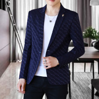 2018秋冬季休闲西服男士修身帅气青年韩版小西装外套潮流单件上衣