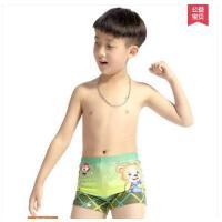 韩版时尚休闲儿童泳衣裤 印花儿童中大童 男童泳裤 亲子装