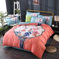 床上用品少女卡通四件套1.8m床单双人被套2.0米婚庆被子三件套1.5