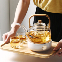 光一日式家用加厚玻璃茶壶竹提梁壶耐热烧水泡茶过滤电陶炉煮功夫花茶