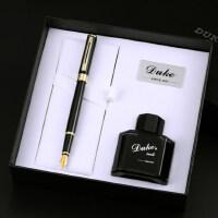 正品DUKE德国公爵N12铱金笔特细笔财务笔钢笔礼盒墨水套装