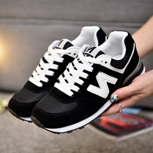 NBanao新百伦新款秋季皮面轻便学生跑步鞋女韩版休闲鞋复古N字运动鞋