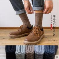 袜子男网红时尚同款潮流加厚保暖长袜户外新品男士羊毛袜中筒袜男潮流日系长筒男袜