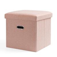 收纳凳子储物凳家用多功能可坐折叠布艺沙发换鞋凳收纳箱神器