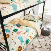 【官方旗舰店】大学生全棉纯棉宿舍床上三件套被套0.9m1.2米床单人儿童3寝室用品