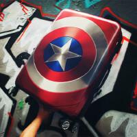 美国队长旅行箱28寸万向轮男大学生女个性行李箱密码拉杆箱 如图