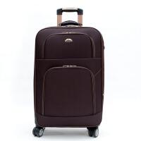 商务拉杆箱20寸男士24寸行李箱旅行箱万向轮密码箱28寸帆布箱 咖啡色 升级扩展版