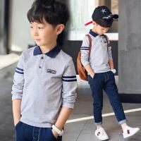 童装男童长袖T恤2018新款翻领休闲polo衫儿童中大童小孩上衣韩版