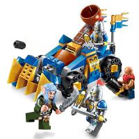 启蒙 海盗军事荣耀之战系列儿童拼插积木益智玩具男孩礼物 抛石车小队2304