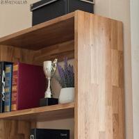 纯实木书架白橡木置物架 实木书柜 书橱 北欧原木简约