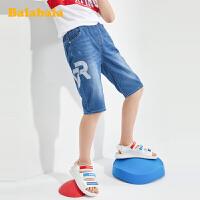 【3件4折价:59.96】巴拉巴拉裤子男大童童装儿童短裤男童裤子2020新款夏装中大童牛仔