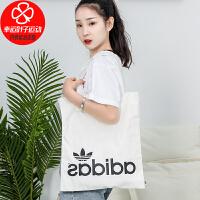 Adidas阿迪�_斯女包新款�\�影��渭绨�帆布挎包手拎包FT8539