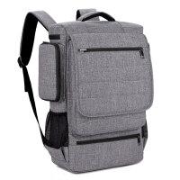 18寸电脑包双肩背包商务休闲手提包人17.3寸玩家国度笔记本包15.6寸 灰色+拉布