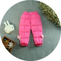 童装款女童夹棉裤小童加厚保暖长裤1-4岁女宝宝碎花羽绒棉棉裤